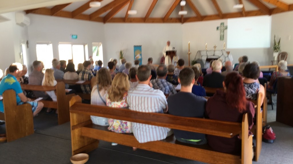 Easter Sunday congregation at Christ the King